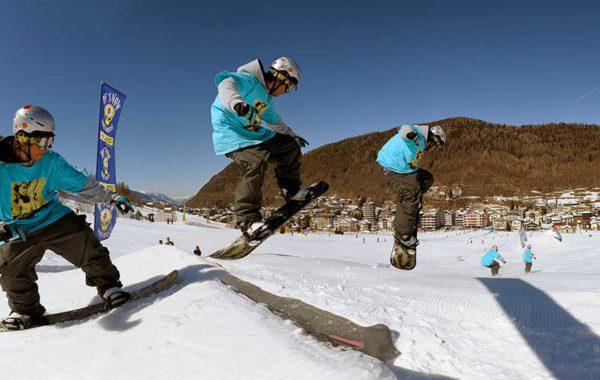 Snowboard ad Aprica